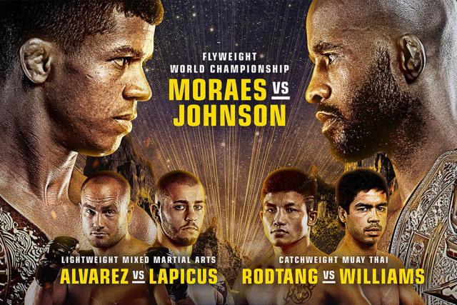 ONE on TNT 1: Adriano Moraes vs. Demetrious Johnson Promo Poster