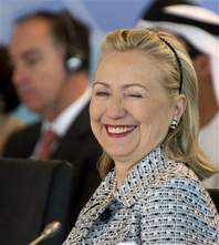 Hillary Clinton in Istanbul; Istanbul conference recognizes Libya rebels as legitimate rulers