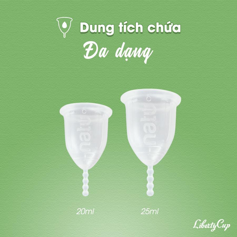 Liberty Cup có 2 size dành cho chị em chưa sinh nở và đã sinh nở