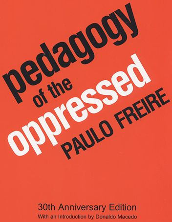 "Pedagogy of the Oppressed, written by educator Paulo Freire, proposes a pedagogy with a new relationship between teacher, student, and society. It was first published in Portuguese in 1968, and was translated by Myra Ramos into English and published in 1970.[1] The book is considered one of the foundational texts of critical pedagogy.Dedicated to what is called ""the oppressed"" and based on his own experience helping Brazilian adults to read and write, Freire includes a detailed Marxist class analysis in his exploration of the relationship between what he calls ""the colonizer"" and ""the colonized"".In the book Freire calls traditional pedagogy the ""banking model"" because it treats the student as an empty vessel to be filled with knowledge, like a piggy bank. However, he argues for pedagogy to treat the learner as a co-creator of knowledge."