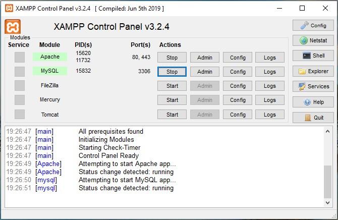 cara membuat database di xampp localhost