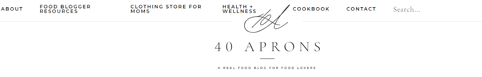 40 Aprons Food Blog