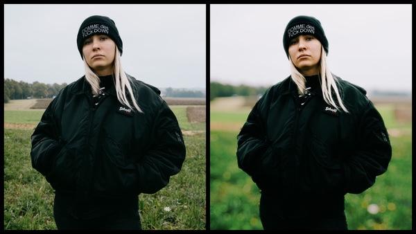 Antes e depois da edição