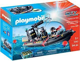 Playmobil- Lancha de Las Fuerzas Especiales Juguete, (geobra Brandstätter 9362)