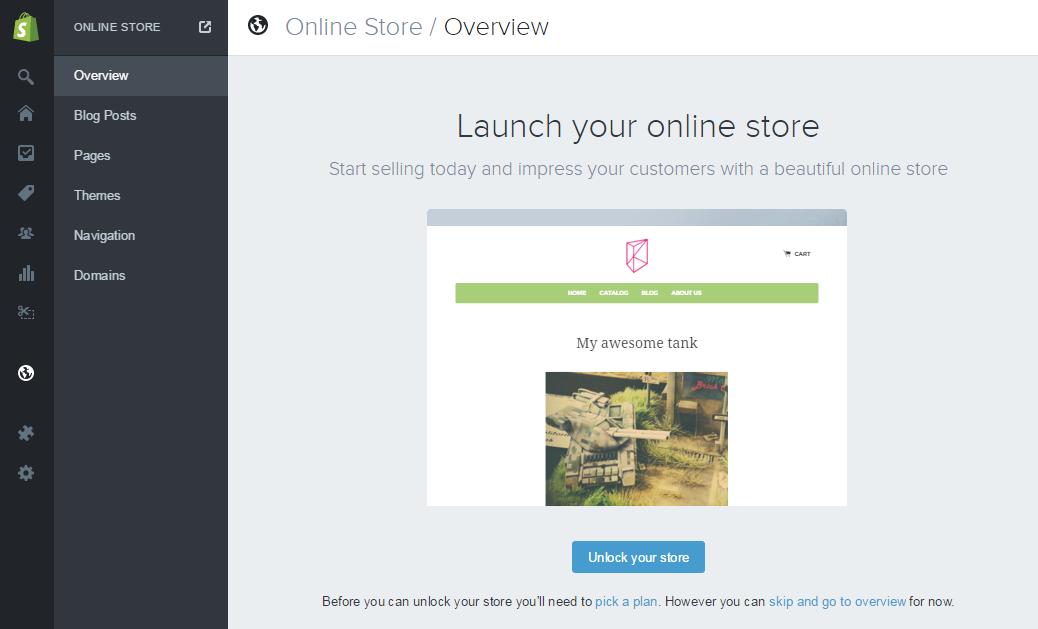 Shopify store unlock