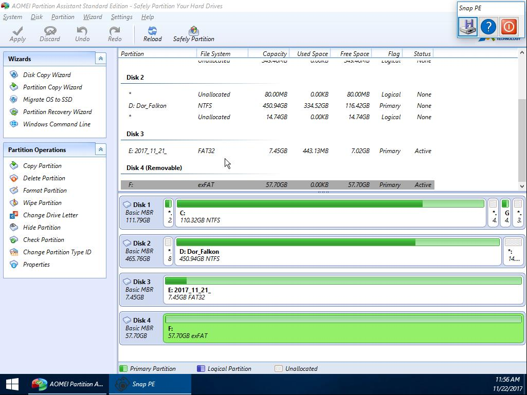 Offline recovery tools: AomeiPE overview – WyattAlan net