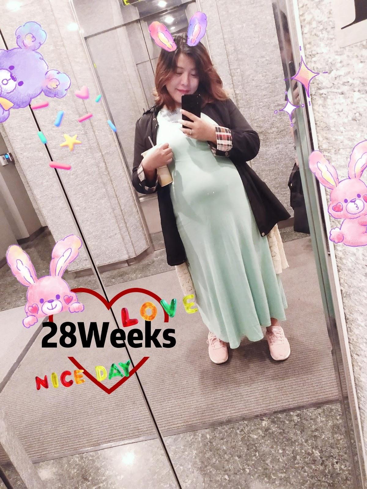 [懷孕28週]寶寶大腿骨比較短,孕期總是擔心不完的媽咪