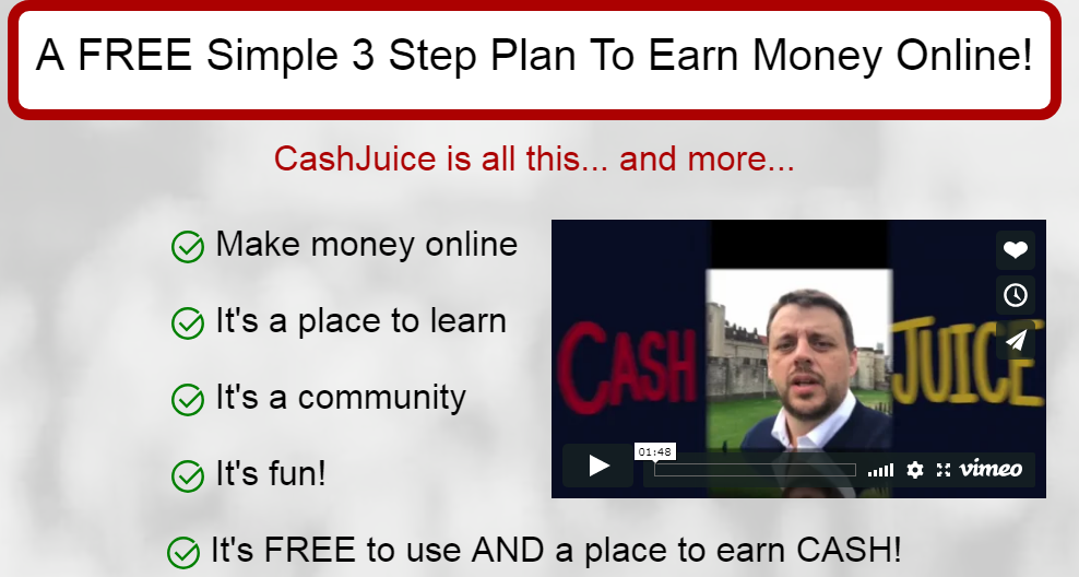Th Cash Juice 3 FREE Simple Plans to Earn Money Online