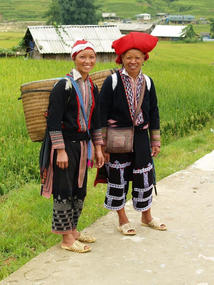 Red Dao ladies in Sa Pa