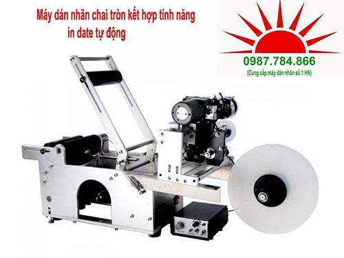 may dan tem nhan chai tron co in date