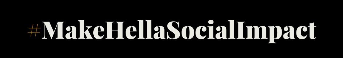 #makehellsocialimpact logo
