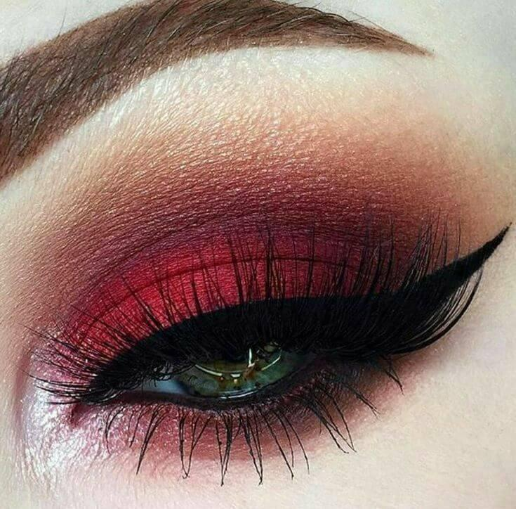 All Over Matte Red Eyelids
