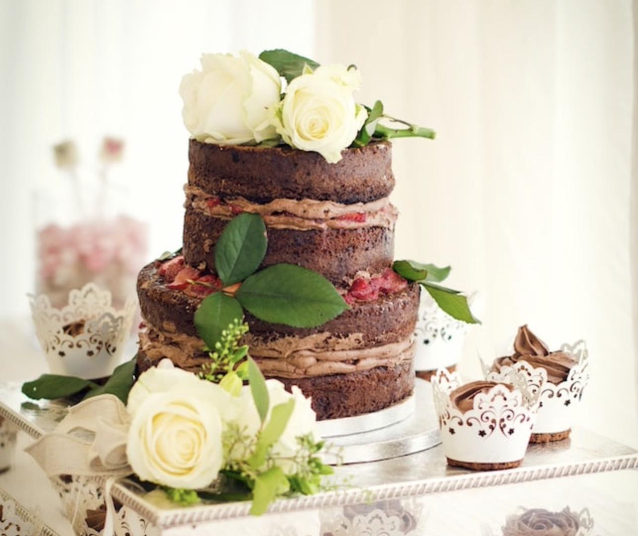 gluten-free DIY wedding cake