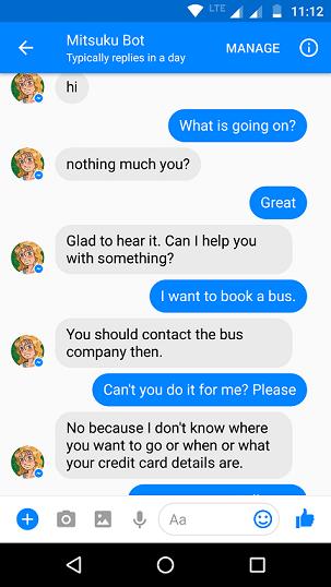 Mitsuku bot example