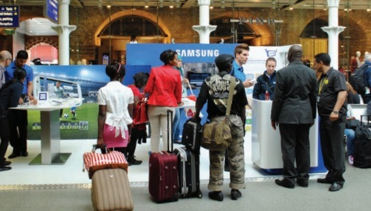 ejemplo de marketing experencial Samsung