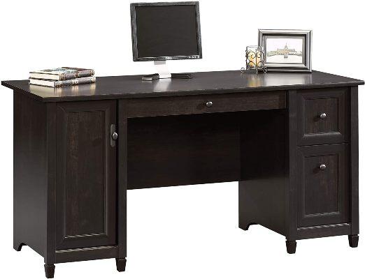 Sauder 408558 Edge Water Computer Desk With Keyboard Tray