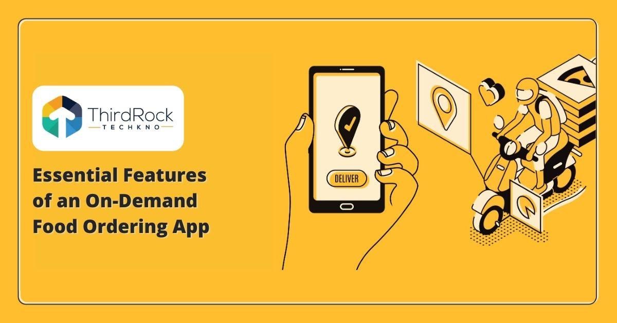 On-demand food ordering app
