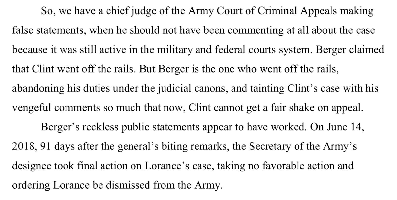MUST READ: A Tragic Miscarriage of Justice for Army First Lieutenant Clint Lorance 5