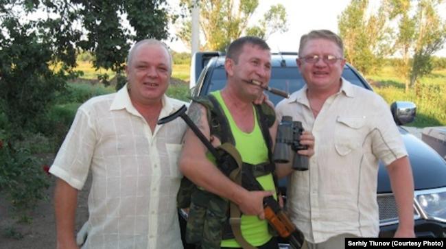 Сергій Тіунов (справа), Сергій Дубинський (у центрі), архівне фото