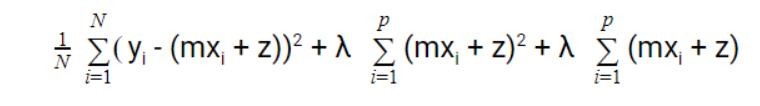 The equation of Lasso Regression and Ridge regression