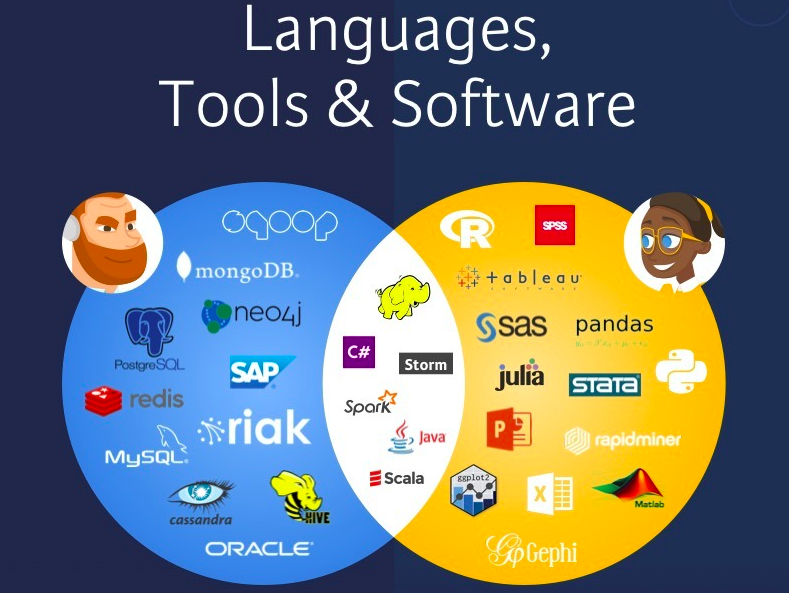 Data scientist vs data engineer tools and software