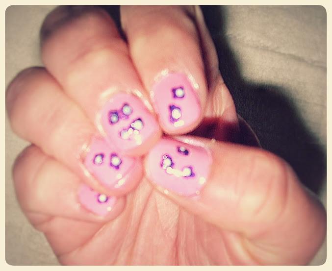 nail art diseño floral