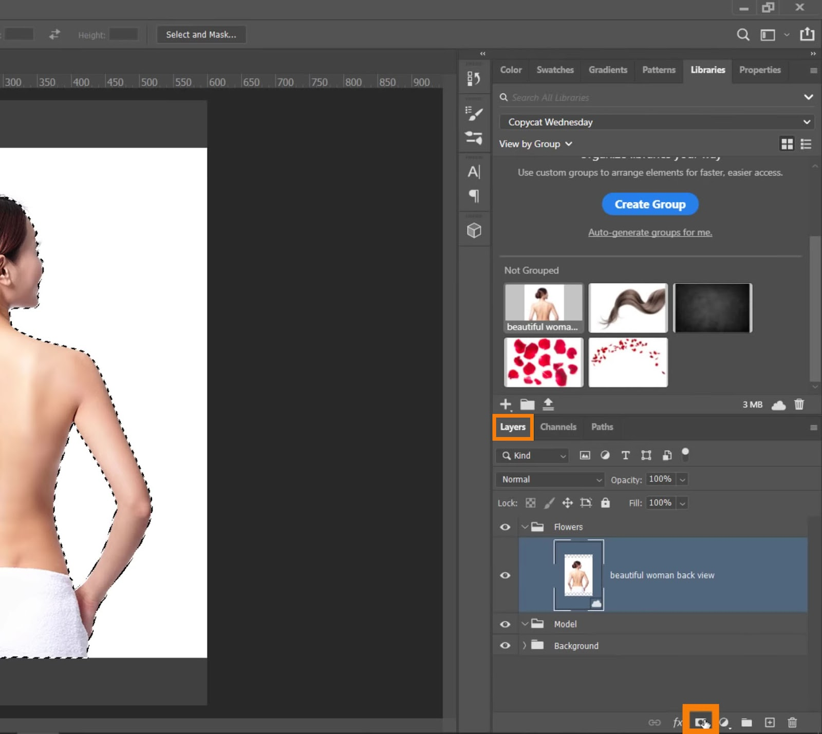 Click on the Layer Mask icon