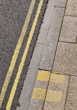 Double Yellow Lines With Double Horizontal lines On Kerb