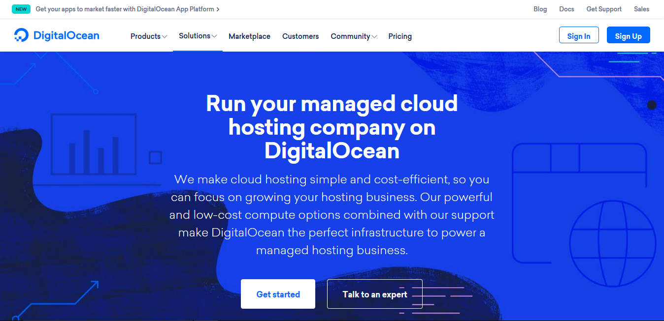 DigitalOcean Cloud VPS hosting for WordPress