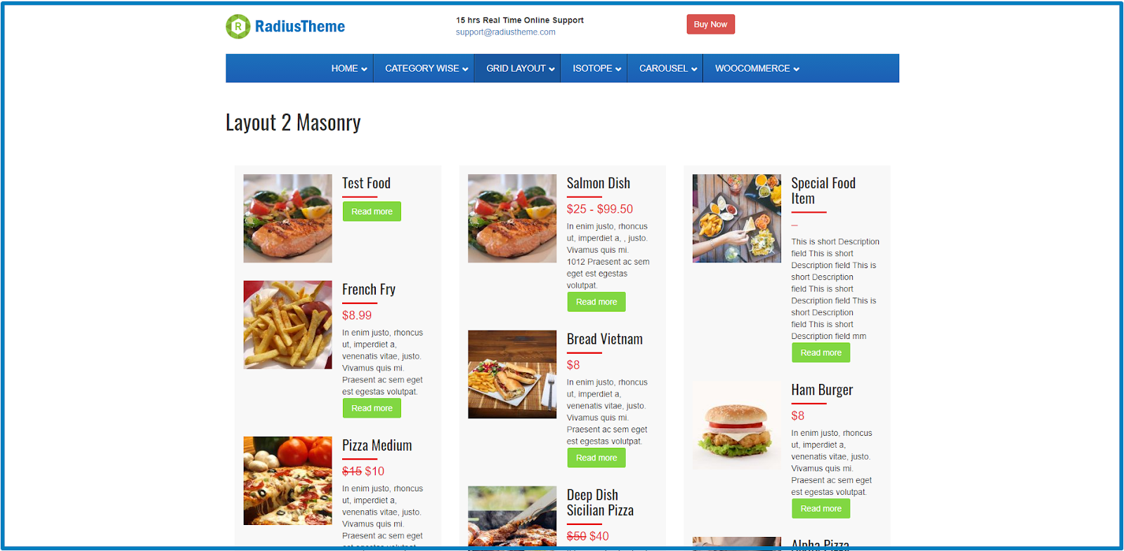WordPress Food Menu Plugins