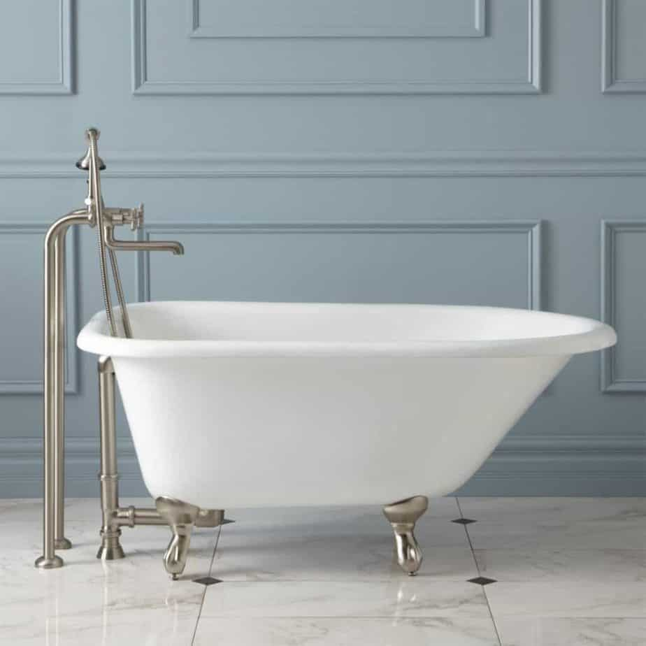 cambria cast iron roll top clawfoot tub