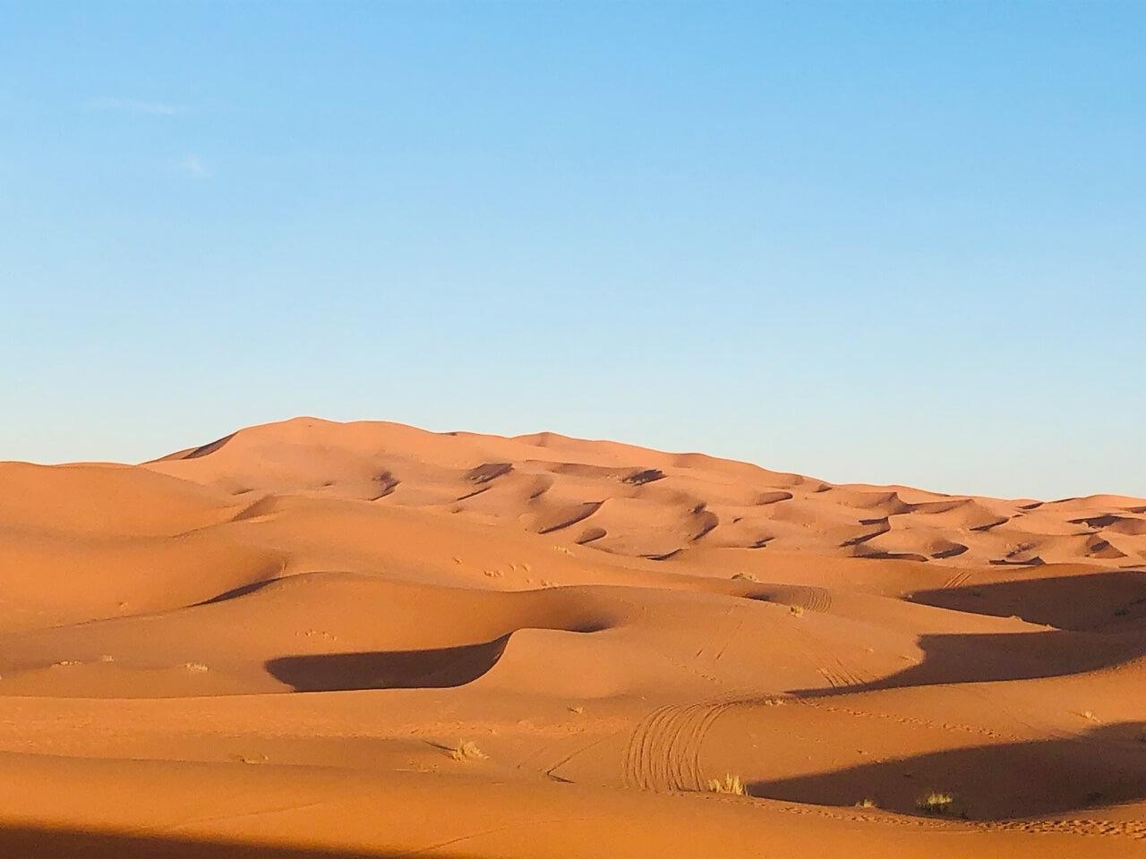 Merzouga dunes morocco desert