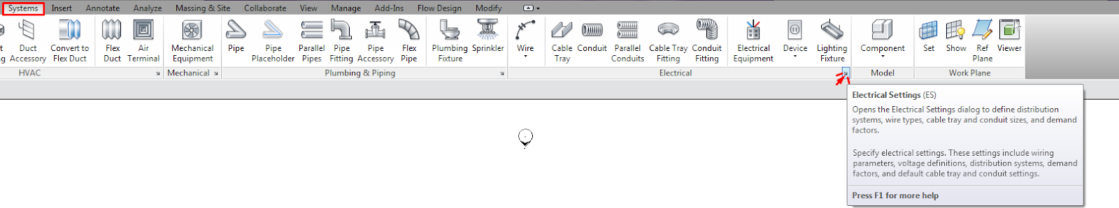 Electrical Systems: Configuration and General Settings in Revit