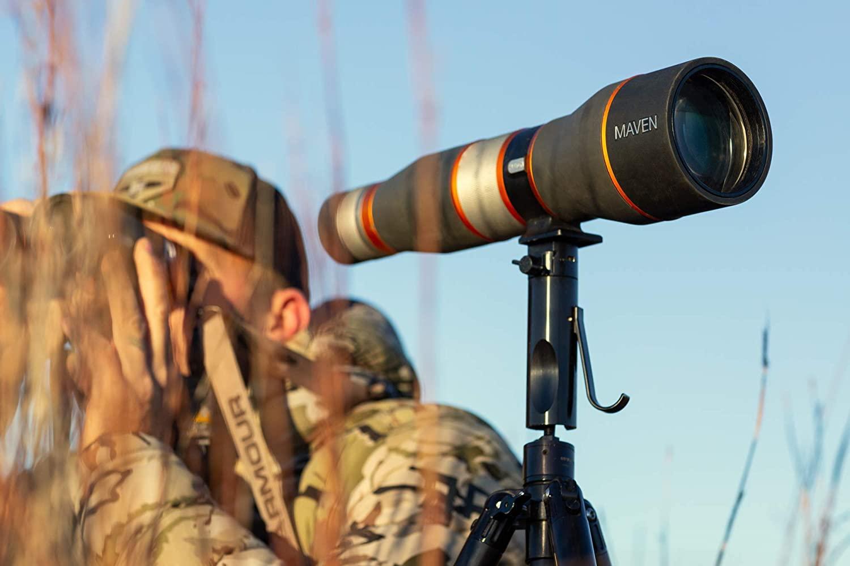 Amazon.com: Maven S.1.S Straight 25-50 X 80mm FL Spotting Scope ...