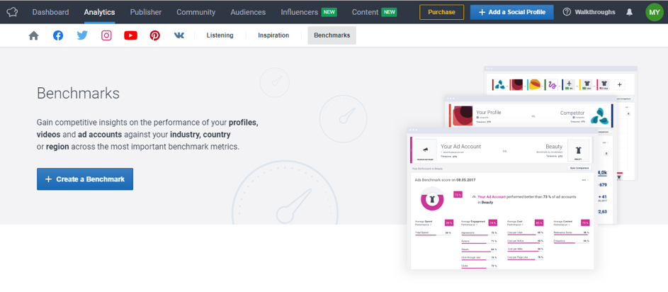 Social Media Competitor Analysis Tool - Socialbakers