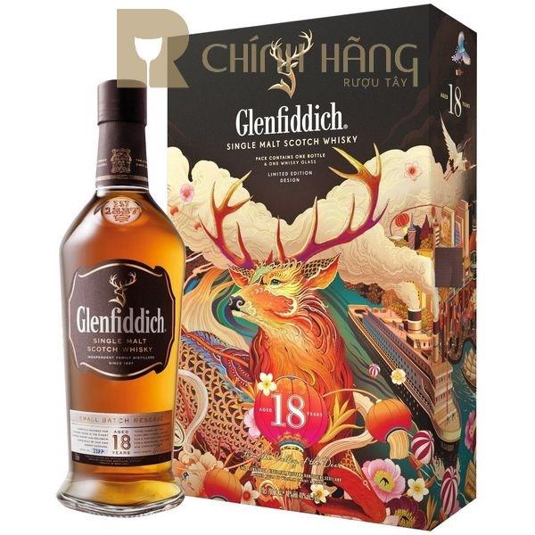Glenfiddich 18 năm hộp quà tết 2021