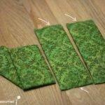 Вырезаем прямоугольники из картона и обтягиваем тканью