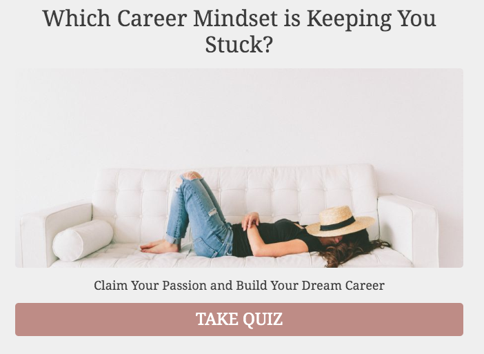 Which career mindset is keeping you stuck? quiz cover
