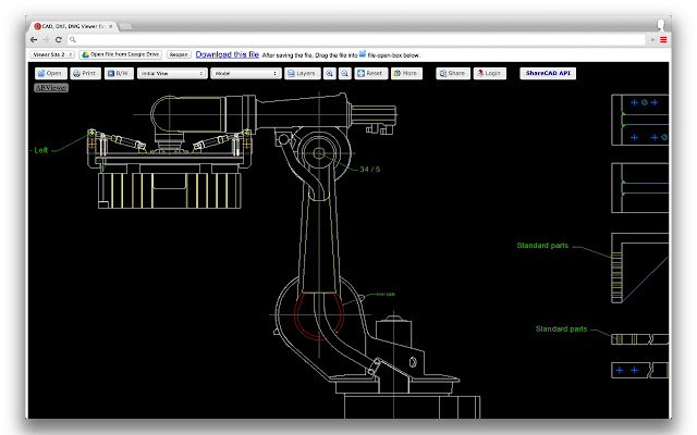 Cad dxf dwg viewer for drive chrome web store for Online cad editor