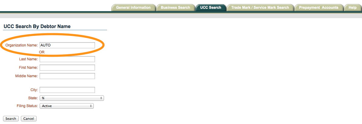 UCC Search