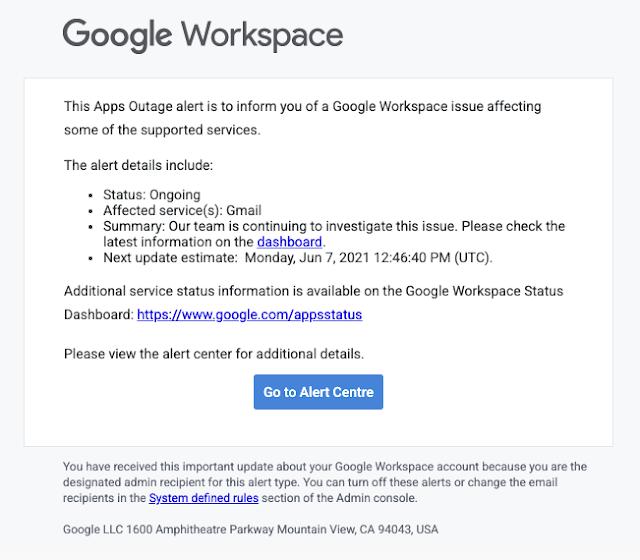administradores de Google Workspace