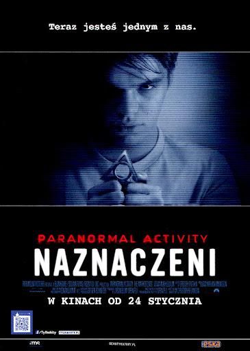 Przód ulotki filmu 'Paranormal Activity: Naznaczeni'