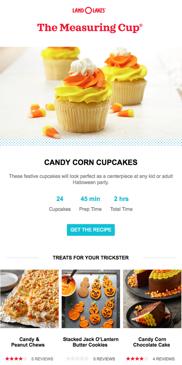 What is an easy recipe to make for Halloween-themed events? The email answers the question at least four times!