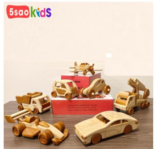Bộ đồ chơi ô tô gỗ tại 5 saokids