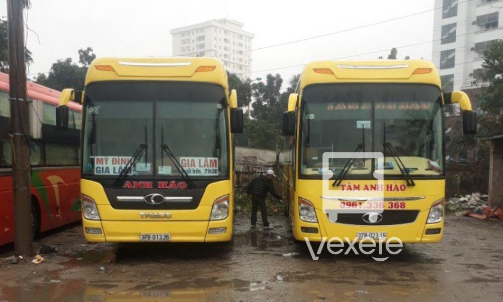 Xe Tâm Anh Hào từ Hà Nội đi Nghệ An