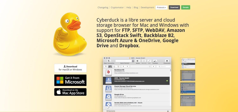 Khách hàng FTP tốt nhất: Cyberduck