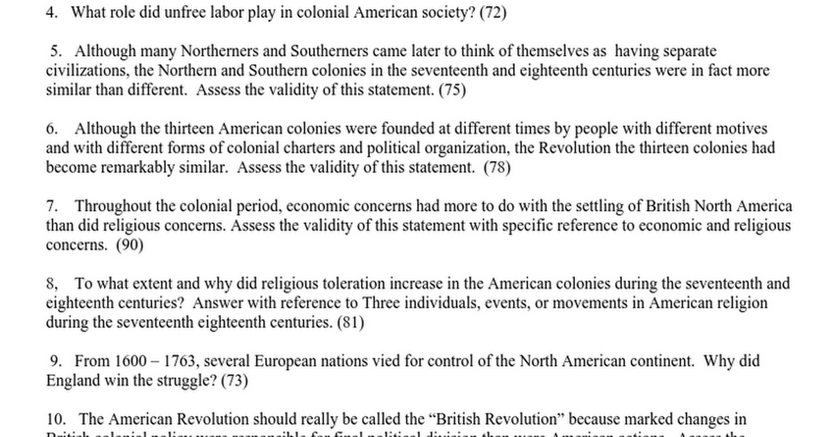 thesis statement about american revolution Free american revolution how the american revolution changed american society formally signed a document containing a list of demands and statements of.