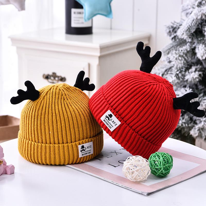 BabyOutlet Baby Wool Reindeer Hat