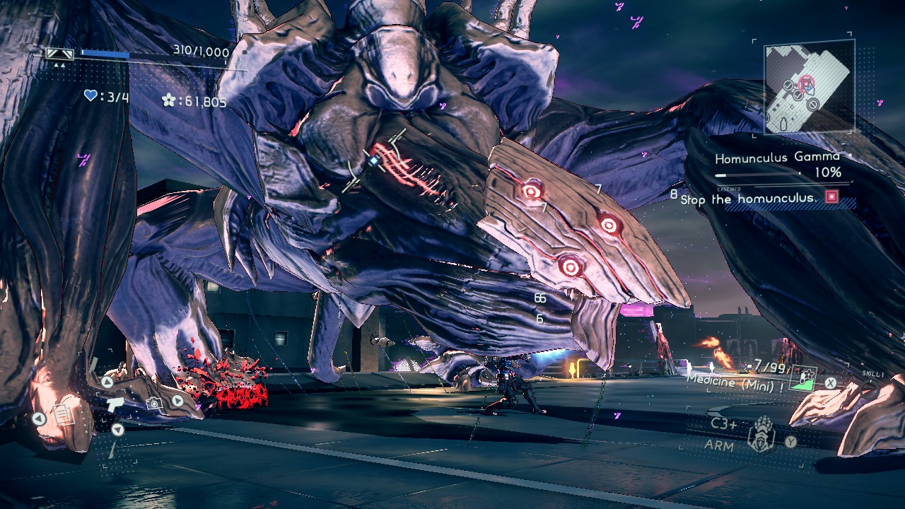 Astral Chain Review Rampaging Chimera