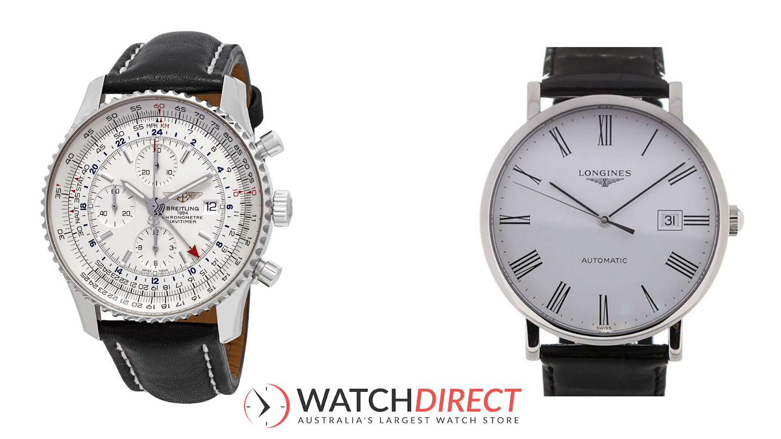 Slim and thick contrasting with the Breitling Navitimer 1 Chronograph Automatic Silver Dial Mens Watch and Longines Elegant Automatic White Dial Men's Watch.